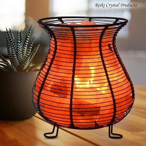 Iron Basket Himalayan Rock Salt Lamp