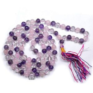 Mind Body Soul  6 mm Round Beads Mala & Necklace ( 108 Beads, 26 Inch  Approx)