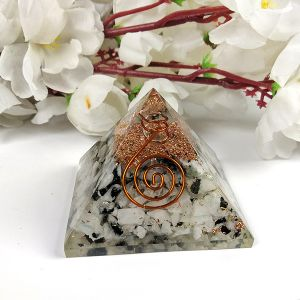 Rainbow Moonstone Orgone & Orgonite Pyramid