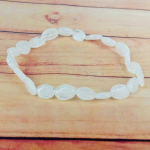 Rainbow Moonstone Oval Bead Bracelet