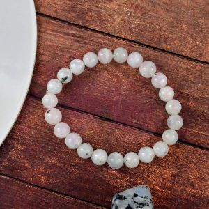 Rainbow Moonstone 8 mm Round Bead Bracelet