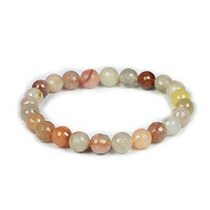 Multi Rutile 8 mm Faceted Bracelet