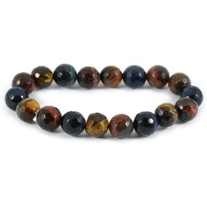 Multi Tiger Eye 8 mm Faceted Bracelet