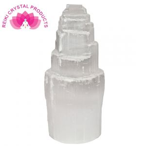 Natural Selenite Tower Energy Infused