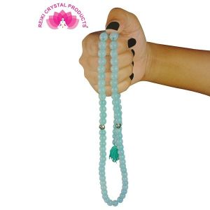 Opalite Natural Crystal Tasbeeh Stone Tasbeeh for Muslim Prayer 8 mm 99 Beads Jap Mala