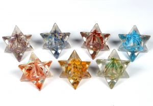 7 Chakra Orgone Merkaba Set of 7 pc for Reiki Healing