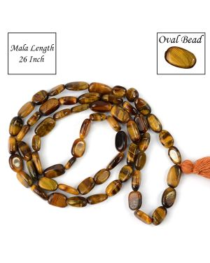 Tiger Eye Oval Bead Mala