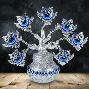 Owl Evil Eye Tree for Good Luck, Gift & Decorative Showpiece