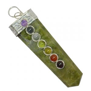 Vasonite With 7 Chakra Flat Stick Pendant