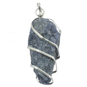 Blue Aventurine Natural Wire Wrapped Pendant