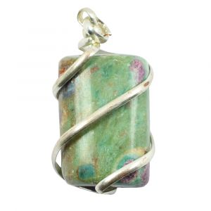 Ruby Fuchsite Natural Wire Wrapped Pendant
