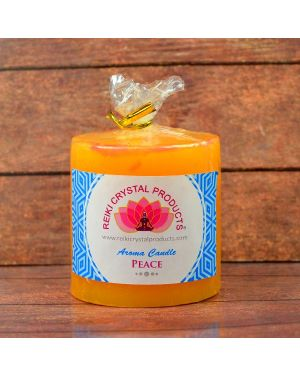 Energized Pillar Candle for Peace Purpose