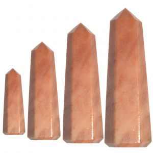 Peach Aventurine Crystal Pencil / Obelisks