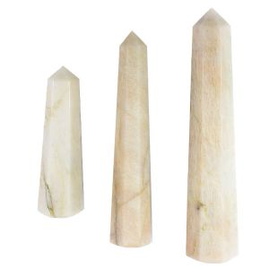 Peach Moonstone Crystal Pencil / Obelisks