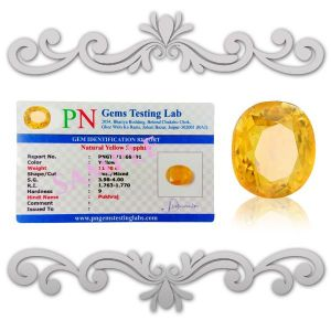 Natural High Grade Pukhraj  Yellow Sapphire Certified Gemstone