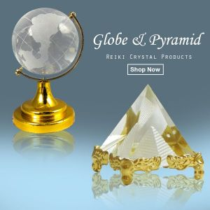Crystal Pyramid and Crystal Globe  Combo Pack of 2 pc