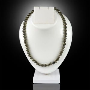 Pyrite 8 mm Round Bead Mala & Necklace (108 Beads & 32 Inch Approx)