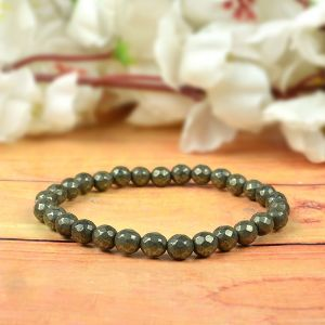 Pyrite 6 mm Faceted / DC Beads Bracelet