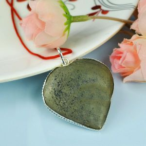Natural Pyrite Heart Shape Pendant