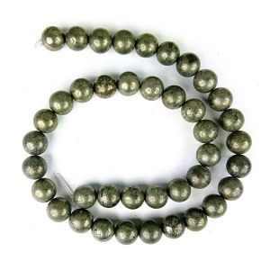 Pyrite 10 mm Round Loose Beads for Jewelery Making Bracelet, Necklace / Mala