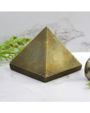 Pyrite Pyramid for Wealth Reiki Healing / Grid and Vastu Correction