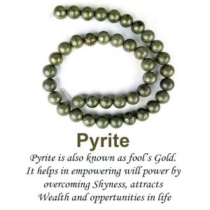 Pyrite  Loose Beads Crystal Beads 10 mm Beads Stone Beads