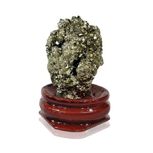 Natural Pyrite Raw Rough Stones Cluster With Stand