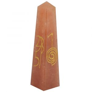 Red Aventurine Reiki Symbol Engraved Tower / Pencil / Obelisks