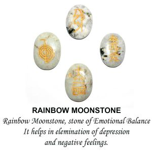 Rainbow Moonstone Reiki Symbol Set 4 pc