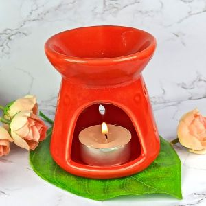 Ceramic Tealight Candle Aroma Oil Diffuser/Burner with 2 pc Tea Light Candle