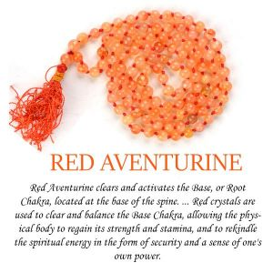 Red Aventurine 6 mm Round Beads Mala & Necklace ( 108 Beads, 26 Inch  Approx)