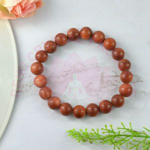 Red Aventurine 8 mm Round Bead Bracelet