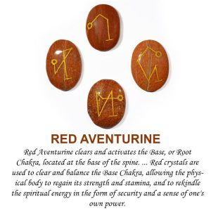 Red Aventurine Arch Angel Sets (4 pcs)
