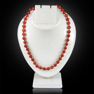 Red Jasper 8 mm Round Bead Mala & Necklace (108 Beads & 32 Inch Approx)
