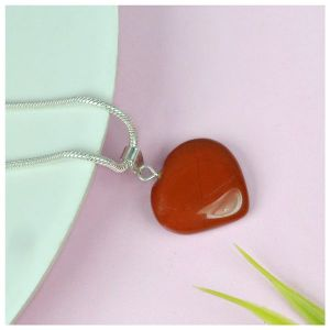 Red Jasper Heart Shape Pendant - Size 15-20 mm approx