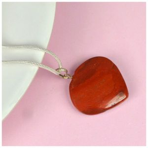 Red Jasper Heart Shape Pendant - Size 25-30 mm approx