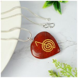 Red Jasper Heart shaped cho ku rei Pendant