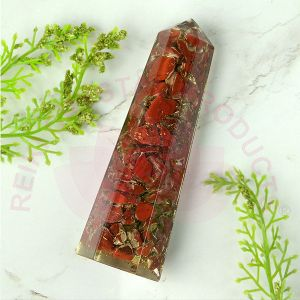 Red Jasper Orgone Pencil 8 cm