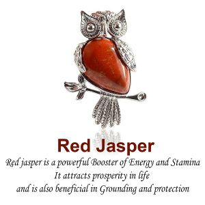 Red Jasper Owl Shape Pendant