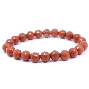 Red Jasper 8 mm Faceted Bracelet