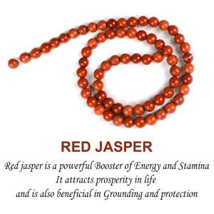 Red Jasper 6 mm Round Beads for Jewelery Making Bracelet, Necklace / Mala