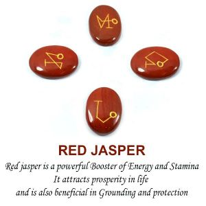 Red Jasper Arch Angel Sets (4 pcs)