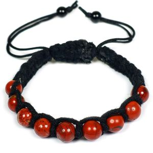 Red Jasper Bracelet 8mm Beads Thread Bracelet
