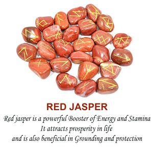 Red Jasper Rune Set 25 Pc