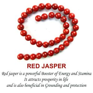 Red Jasper 10 mm Round Beads For Jewelery Making Bracelet, Necklace / Mala
