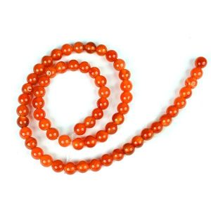 Red Onyx 6 mm Round Loose Beads for Jewelery Making Bracelet, Necklace / Mala