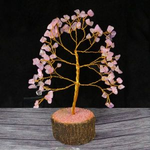 Rose Quartz Natural Chips 100 Beads Tree