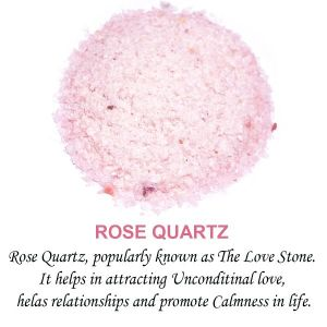 Rose Quartz Crystal / Stone Dust / Chura