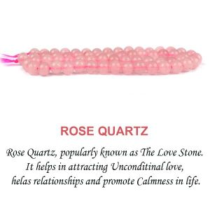 Rose Quartz 6 mm Round Beads for Jewelery Making Bracelet, Necklace / Mala
