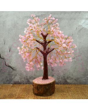Rose Quartz Natural Chips 500 Beads Tree